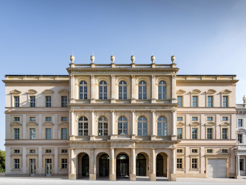 Front view of the Museum Barberini in Potsdam