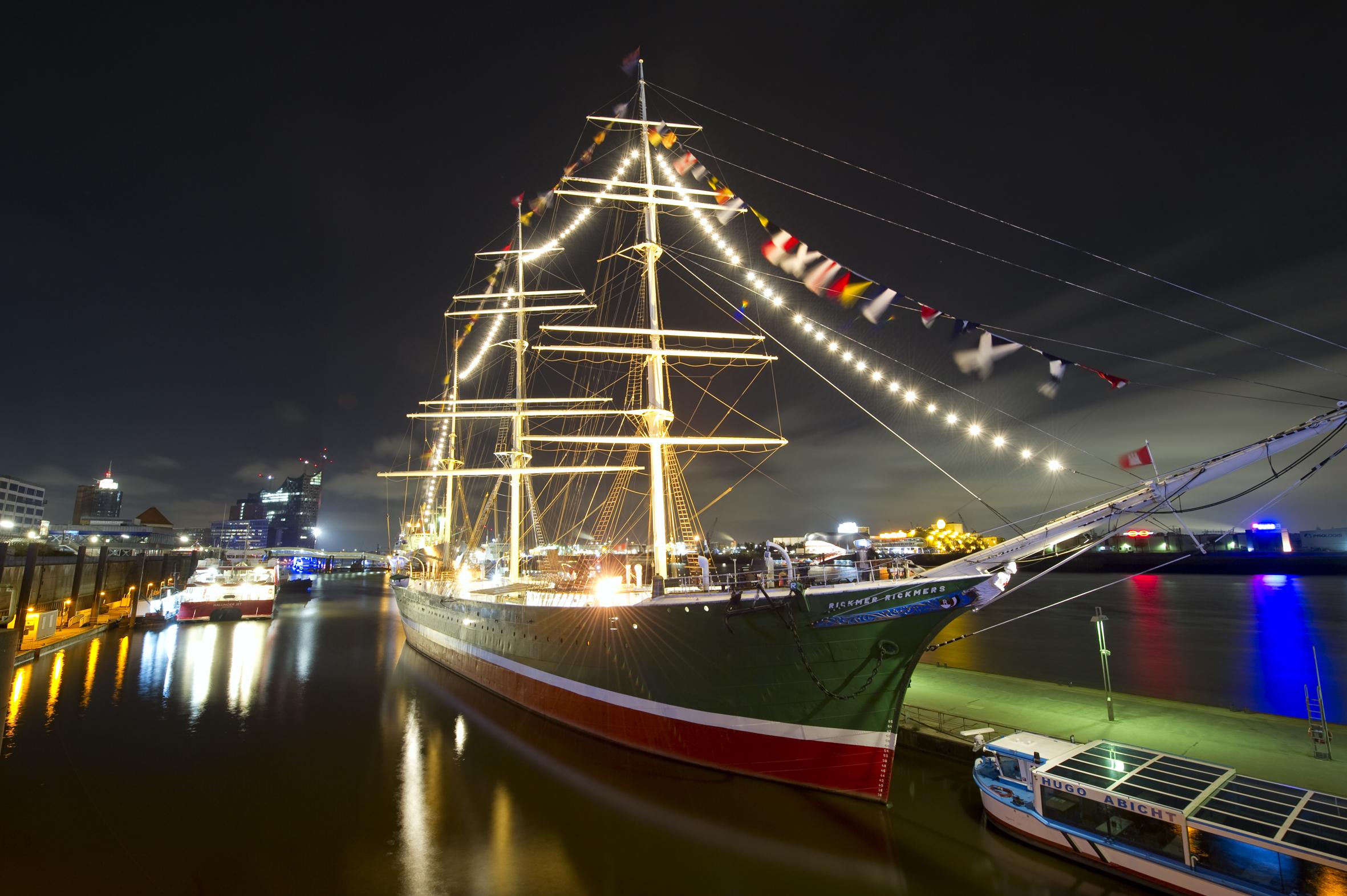 Außenansicht Museumsschiff RICKMER RICKMERS