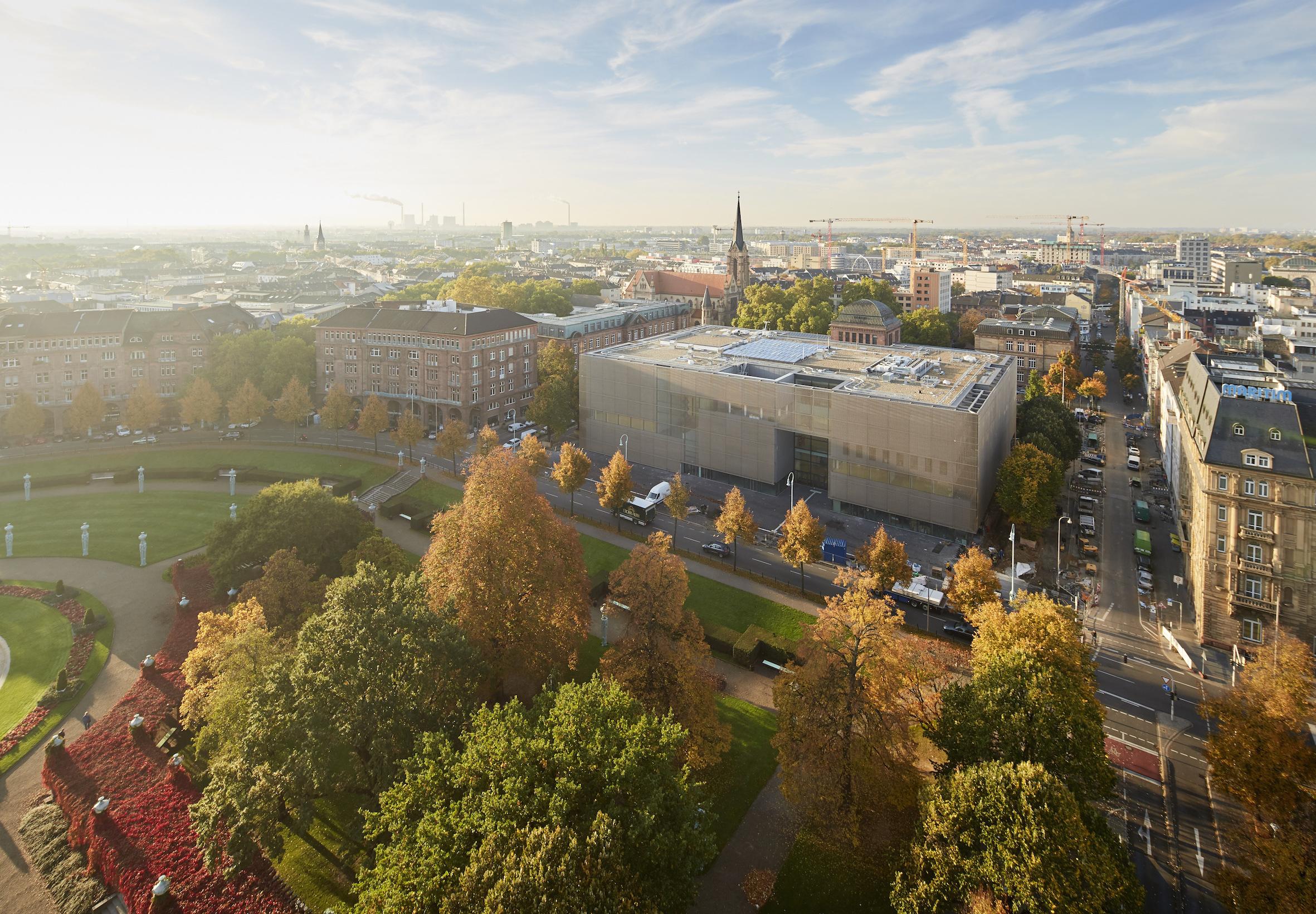 Vogelperspektive auf die Kunsthalle Mannheim